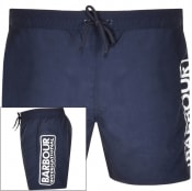 Product Image for Barbour International Logo Swim Shorts Navy