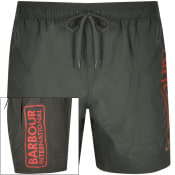 Product Image for Barbour International Logo Swim Shorts Green