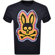 Product Image for Psycho Bunny Arlington Logo T Shirt Navy