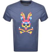 Product Image for Psycho Bunny Kidd Logo T Shirt Navy