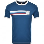Product Image for Pretty Green Timor Ringer T Shirt Navy