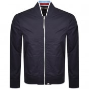 Product Image for Pretty Green Stripe Rib Bomber Jacket Navy