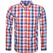 Product Image for Pretty Green Galaxy Long Sleeved Shirt Navy