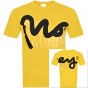 Product Image for Money Crew Neck Logo T Shirt Yellow