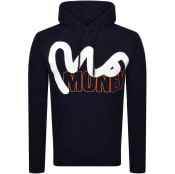 Product Image for Money Stencil Block Logo Hoodie Navy