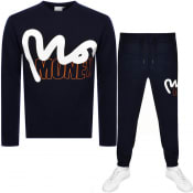 Product Image for Money Crew Neck Logo Tracksuit Navy