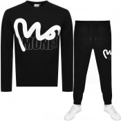 Product Image for Money Crew Neck Logo Tracksuit Black