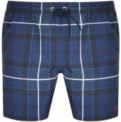 Product Image for Barbour Tartan Swim Shorts Navy
