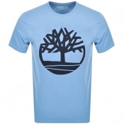 Product Image for Timberland Crew Neck Logo T Shirt Blue