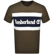 Product Image for Timberland Colour Block Logo T Shirt Green