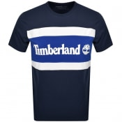 Product Image for Timberland Colour Block Logo T Shirt Navy