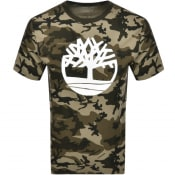 Product Image for Timberland Camouflage Logo T Shirt Green