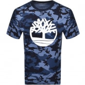 Product Image for Timberland Camouflage Logo T Shirt Navy