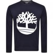 Product Image for Timberland Crew Neck Logo Sweatshirt Navy