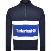 Product Image for Timberland Half Zip Logo Sweatshirt Navy