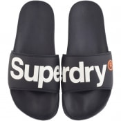 Product Image for Superdry Classic Pool Logo Sliders Navy