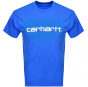 Product Image for Carhartt Script Logo T Shirt Blue