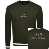 Product Image for Armani Exchange Crew Neck Logo Sweatshirt Green
