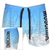 Product Image for Moschino Logo Swim Shorts Blue