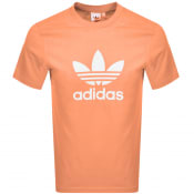 Product Image for adidas Originals Trefoil Logo T Shirt Orange