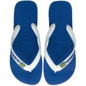 Product Image for Havaianas Brazil Logo Flip Flops Blue