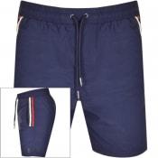 Product Image for Luke 1977 Caen Striped Detail Swim Shorts Navy