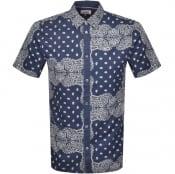 Product Image for Tommy Jeans Bandana Short Sleeve Shirt Blue