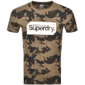 Product Image for Superdry Logo Camo Short Sleeve T Shirt Brown