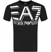 Product Image for EA7 Emporio Armani Crew Neck Logo T Shirt Black
