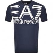 Product Image for EA7 Emporio Armani Crew Neck Logo T Shirt Navy