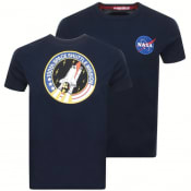 Product Image for Alpha Industries Space Shuttle Logo T Shirt Navy
