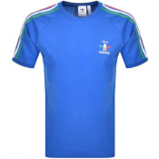 Product Image for Adidas Originals 3 Stripe Italia T Shirt Blue