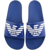 Product Image for Emporio Armani Logo Sliders Blue