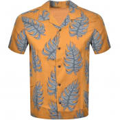 Product Image for Nudie Jeans Short Sleeved Arvid Leaf Shirt Yellow