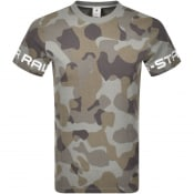 Product Image for G Star Raw Camouflage Logo T Shirt Grey