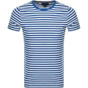 Product Image for Tommy Hilfiger Slim Fit Stripe T Shirt Blue