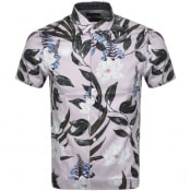 Product Image for Ted Baker Dudum Print Short Sleeved Shirt Lilac