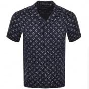 Product Image for Ted Baker Hedstan Short Sleeved Shirt Navy