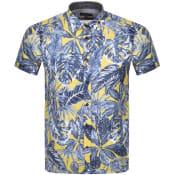 Product Image for Ted Baker Upward Short Sleeved Shirt Yellow