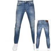 Product Image for G Star Raw 3301 Straight Tapered Jeans Blue