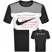 Product Image for Nike Crew Neck Swoosh Logo T Shirt Black