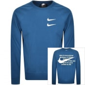 Product Image for Nike Crew Neck Swoosh Sweatshirt Blue