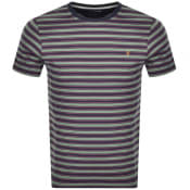 Product Image for Farah Vintage India Stripe T Shirt Navy