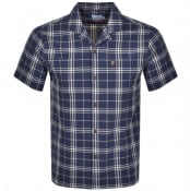 Product Image for Farah Vintage Emerson Short Sleeved Shirt Navy