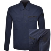Product Image for BOSS Lovel Zip Overshirt Jacket Navy