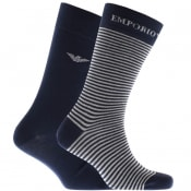 Product Image for Emporio Armani 2 Pack Socks Navy
