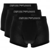 Product Image for Emporio Armani Underwear 3 Pack Trunks Black