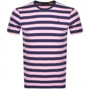 Product Image for Ralph Lauren Slim Fit Stripe T Shirt Pink