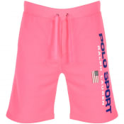 Product Image for Ralph Lauren Polo Logo Sweat Shorts Pink