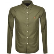 Product Image for Ralph Lauren Custom Fit Long Sleeved Shirt Green